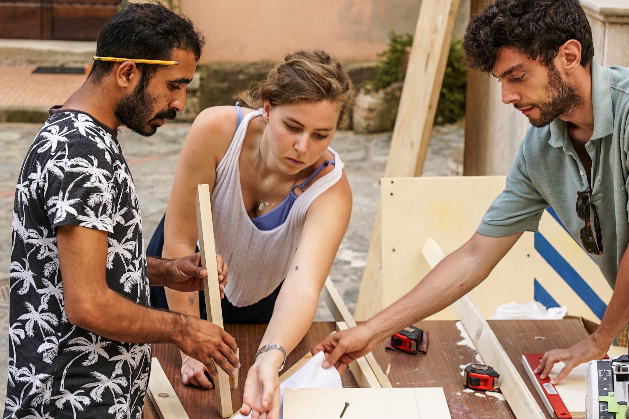 Creazione delle strutture durante il workshop