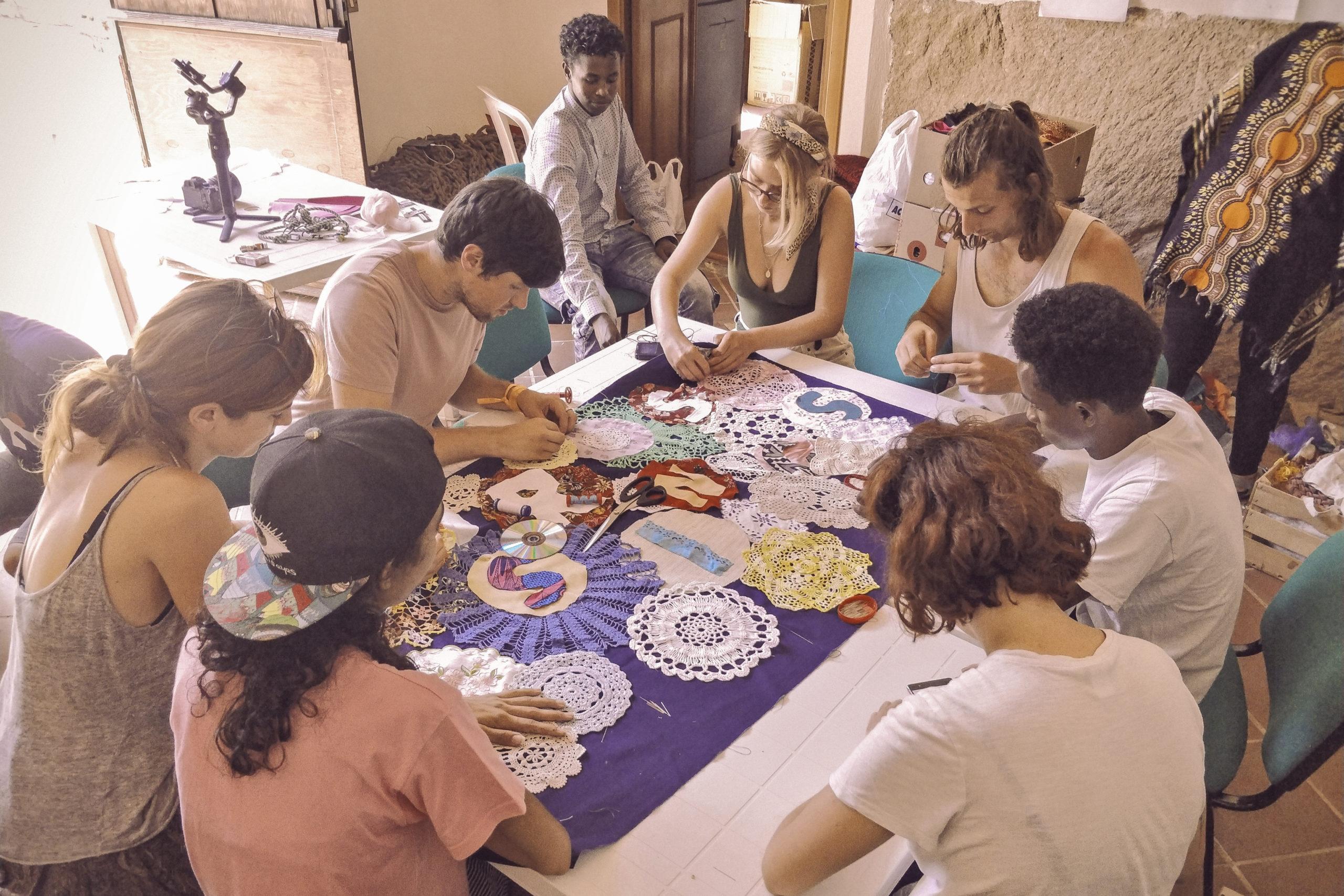Giornata al workshop di arte con Barbara Cammarata