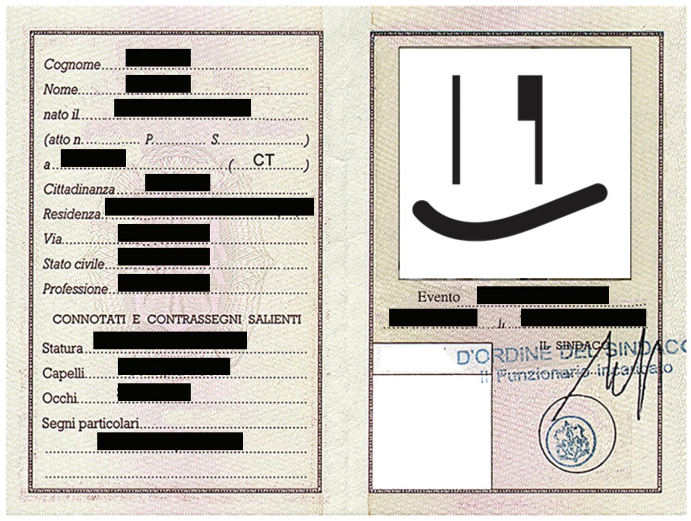 Carta d'identità BelMondo