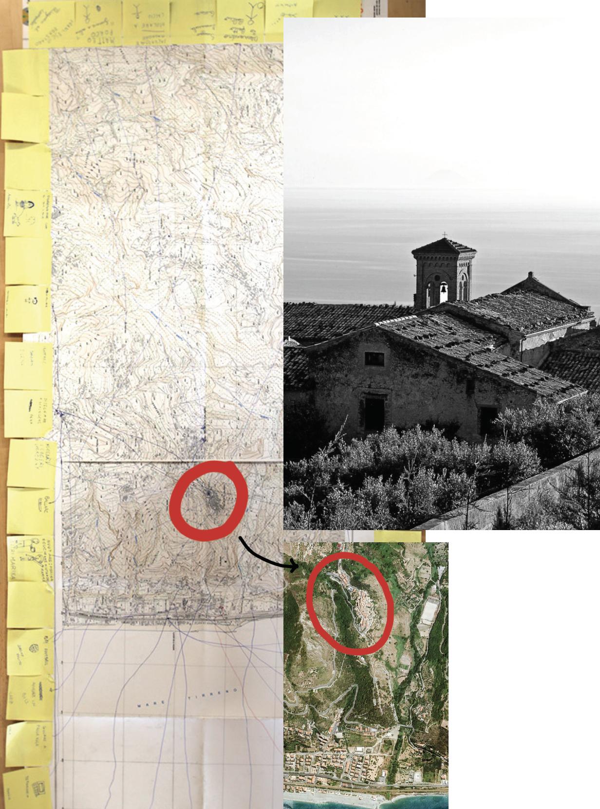 Collage espressivo della location