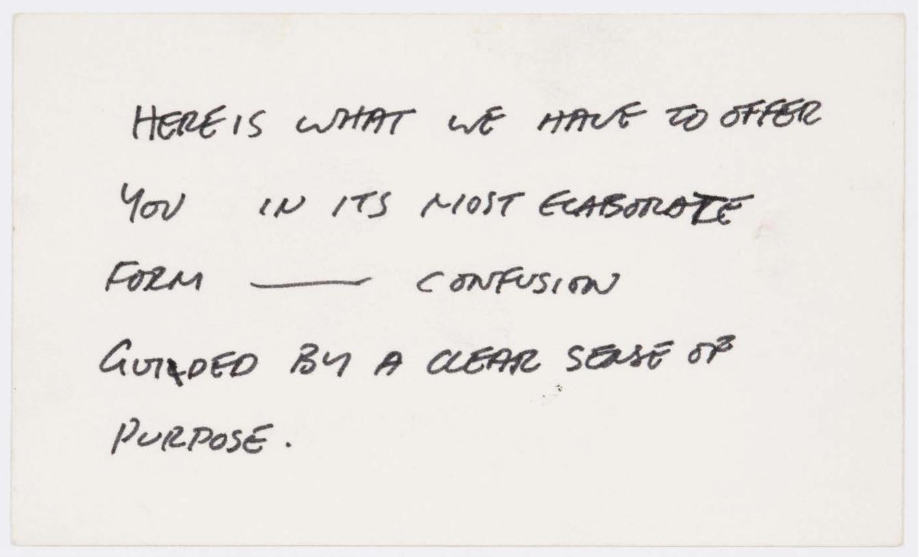 Gordon Matta Clark - Quote