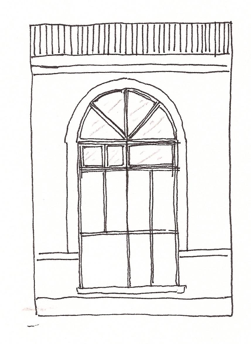 Design degli interiori viste dalla porta