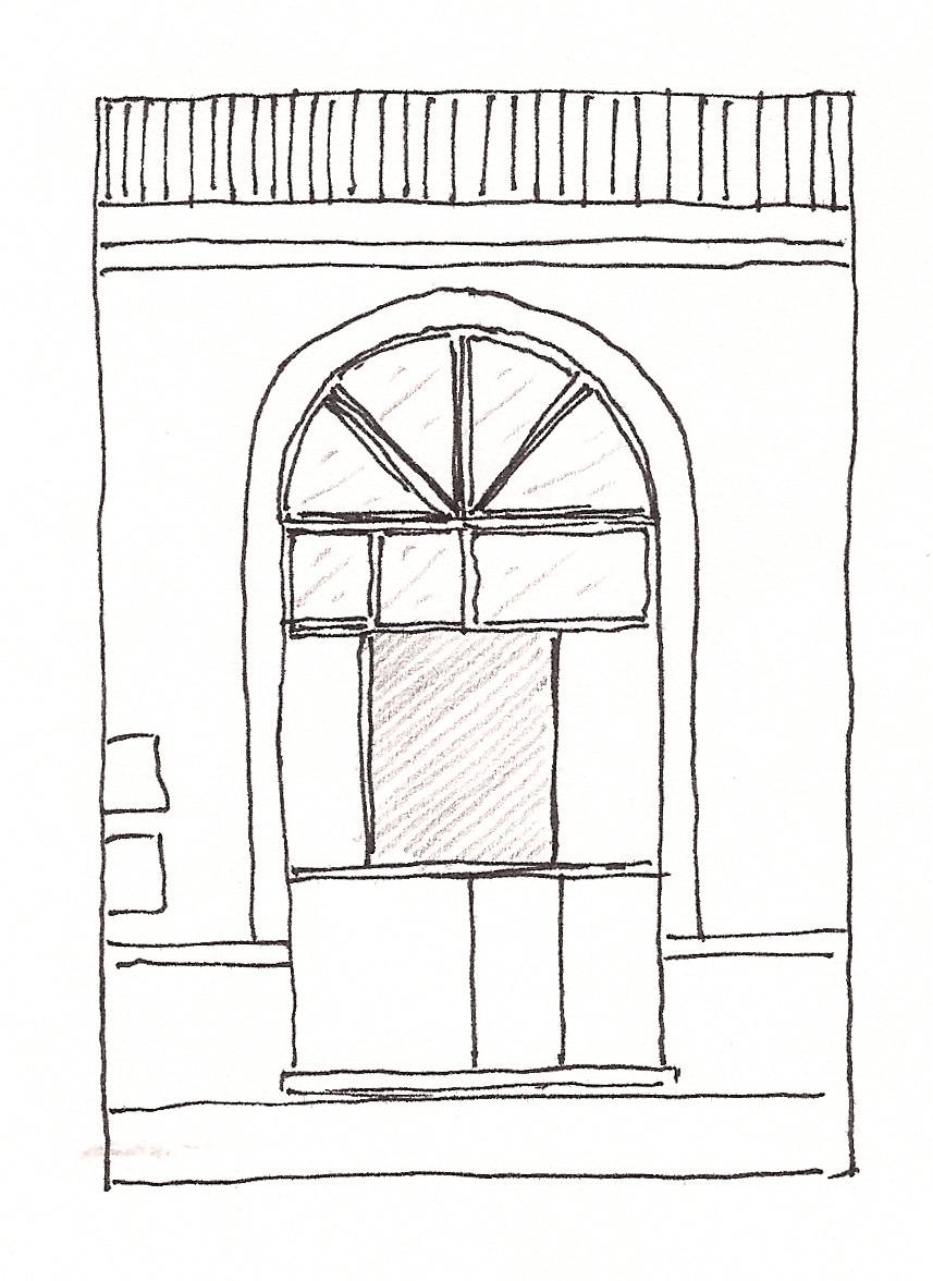 Design degli interiori viste dalla porta della libreria